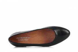 AEROBICS 5598 BLACK: LEATHER UPPER, LEATHER LINED RUBBER SOLE