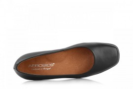 AEROBICS 5074 BLACK: LEATHER UPPER, LEATHER LINED, RUBBER SOLE