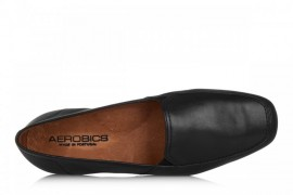 AEROBICS LOAFER BLACK BL 5062: LEATHER UPPER, LEATHER LINED