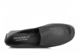 AEROBICS HELLO BLACK: LEATHER UPPER,LEATHER LINED, NON SLIP SOLE
