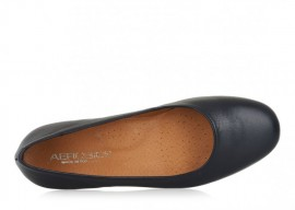 AEROBICS VILLA BLACK: LEATHER UPPER, LEATHER LINED, RUBBER SOLE