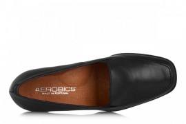AEROBICS BANKOKE BL 5046 BLACK: LEATHER UPPER, LEATHER LINED