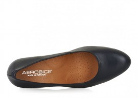 AEROBICS VANAIR NAVY BLUE: LEATHER UPPER, LEATHER LINED.