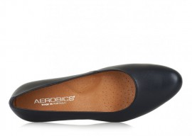 AEROBICS BARCELONA BLACK: LEATHER UPPER, LEATHER LINED.
