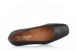 AEROBICS 5073 BLACK: LEATHER UPPER, LEATHER LINED, RUBBER SOLE
