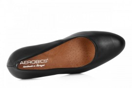 AEROBICS BL5433 BLACK: LEATHER UPPER,LEATHER LINED,RUBBER SOLE