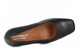 AEROBICS BL5434 BLACK: LEATHER UPPER,LEATHER LINED,RUBBER SOLE