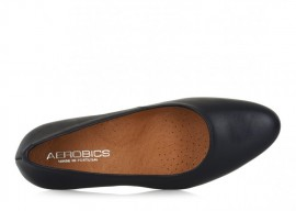 AEROBICS FRANCE BLACK: LEATHER UPPER, LEATHER LINED, RUBBER SOLE
