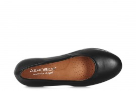AEROBICS 5146 BLACK LEATHER PLATFORM SHOE (BA UNIFORM STANDARDS)