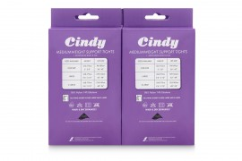 PACK OF 6 CINDY MEDIUMWEIGHT SUPPORT TIGHTS IN BARELY BLACK, BAMBOO AND NEARLY BLACK: SIZE LARGE.