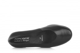 AEROBICS WIDER FIT BL5982 BLACK: LEATHER UPPER, LEATHER LINED RUBBER SOLE.