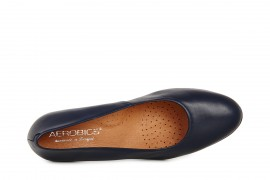AEROBICS VIENNA BL5723 NAVY BLUE: LEATHER UPPER, LEATHER LINED.