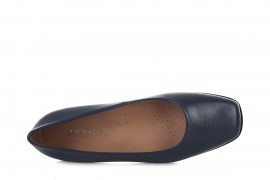AEROBICS 5074 NAVY BLUE: LEATHER UPPER, LEATHER LINED, RUBBER SOLE