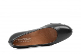 AEROBICS VIENNA BL5723 BLACK: LEATHER UPPER, LEATHER LINED.