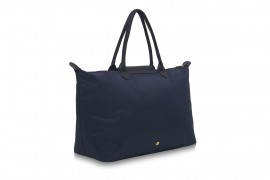 W3 NAVY BLUE NYLON TOTE BAG