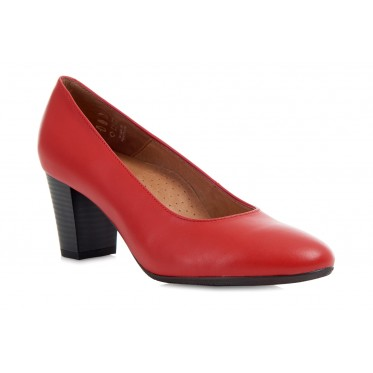 AEROBICS BARCELONA RED: LEATHER UPPER, LEATHER LINED, RUBBER SOLE.