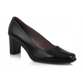 TN643-1A BLACK CALF: LEATHER UPPER, LEATHER LINED, RUBBER SOLE