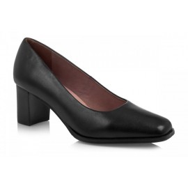 TN757-1 BLACK: LEATHER UPPER, LEATHER LINED, RUBBER SOLE