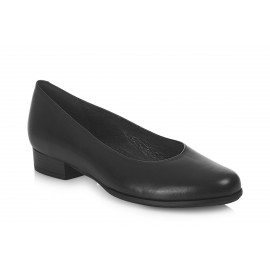 AEROBICS WIDER FIT  BL6037 BLACK: LEATHER UPPER, LEATHER LINED RUBBER SOLE.