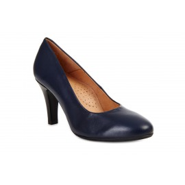 AEROBICS PARIS BL5729 NAVY BLUE: LEATHER UPPER, LEATHER LINED.