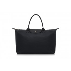 W3 BLACK NYLON TOTE BAG