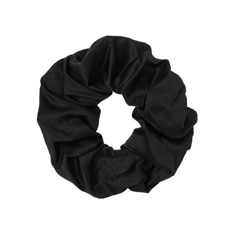 MOLLY & ROSE BLACK SATIN SCRUNCHIE