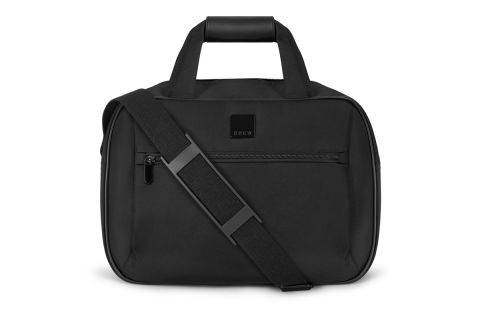 CREW FLIGHT BAG BW4843 BLACK: WITH BACK STRAP COMPARTMENT TO FIT OVER SUITCASE HANDLE