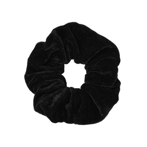 MOLLY & ROSE BLACK HIGH SHINE FABRIC SCRUNCHIE