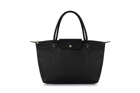 W1 BLACK NYLON TOTE BAG