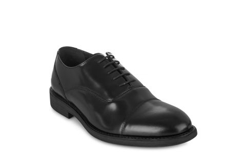 TREDFLEX FRANKLIN 5978 BLACK: POLISHED LEATHER UPPER, LEATHER/SYNTHETIC LINED, RUBBER SOLE