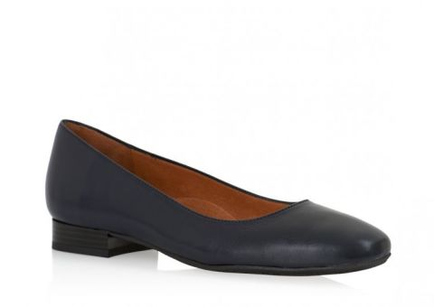 AEROBICS SQUINT NAVY BLUE: LEATHER UPPER, LEATHER LINED.
