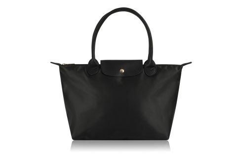 W1-1 BLACK NYLON TOTE BAG WITH BACK STRAP TO FIT OVER SUIT CASE HANDLE