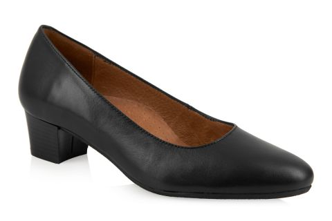 AEROBICS MADRID BLACK: LEATHER UPPER, LEATHER LINED, RUBBER SOLE