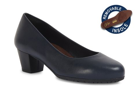 TOTALFLEX CABIN MODEL 3: NAVY LEATHER WITH REMOVABLE INSOLES