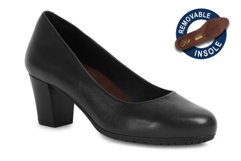 TOTALFLEX FLY MODEL 4: BLACK LEATHER WITH REMOVABLE INSOLES