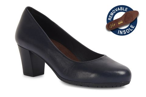 TOTALFLEX FLY MODEL 4: NAVY LEATHER WITH REMOVABLE INSOLES