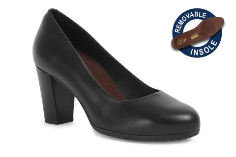 TOTALFLEX FLYHI MODEL 5: BLACK LEATHER WITH REMOVABLE INSOLES