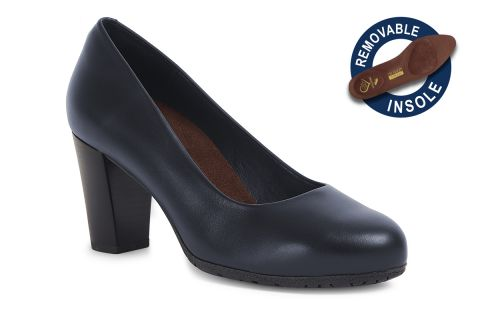 TOTALFLEX FLYHI MODEL 5: NAVY LEATHER WITH REMOVABLE INSOLES