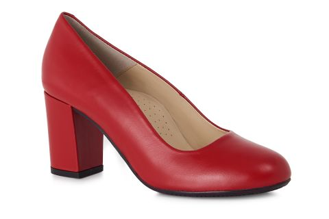 AEROBICS PRAGUE 7091 RED: LEATHER UPPER LEATHER LINED RUBBER SOLE.