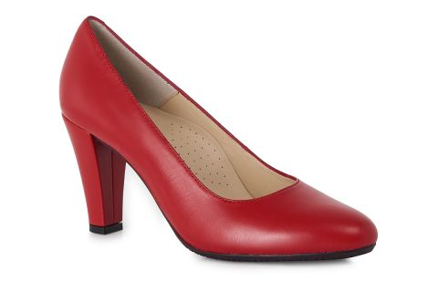 AEROBICS NAPOLI 7094 RED: LEATHER UPPER LEATHER LINED RUBBER SOLE.