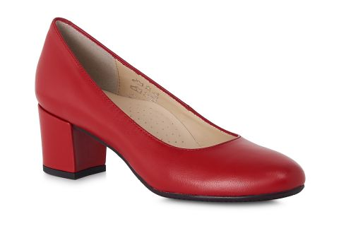 AEROBICS SETA 7092 RED: LEATHER UPPER LEATHER LINED RUBBER SOLE.