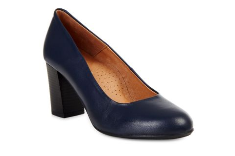 AEROBICS PRAGUE BL5722 NAVY BLUE: LEATHER UPPER, LEATHER LINED.