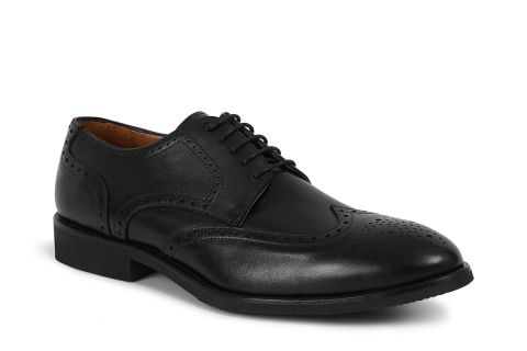 5453 BLACK: LEATHER UPPER, LEATHER LINED RUBBER SOLE