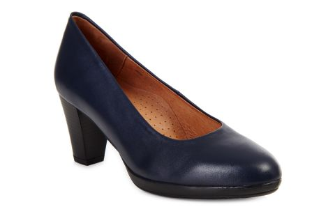 AEROBICS VIENNA BL5723 NAVY BLUE: LEATHER UPPER LEATHER LINED RUBBER SOLE.
