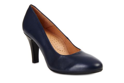 AEROBICS PARIS BL5729 NAVY BLUE: LEATHER UPPER LEATHER LINED RUBBER SOLE.
