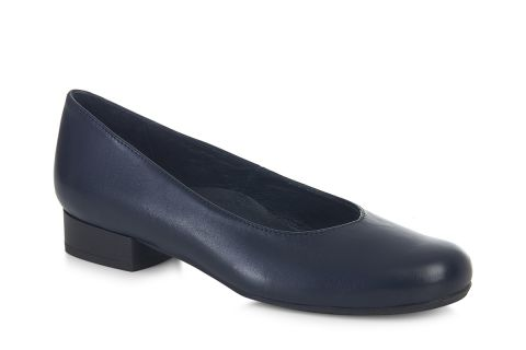AEROBICS WIDER FIT  BL6037 NAVY BLUE: LEATHER UPPER, LEATHER LINED RUBBER SOLE.