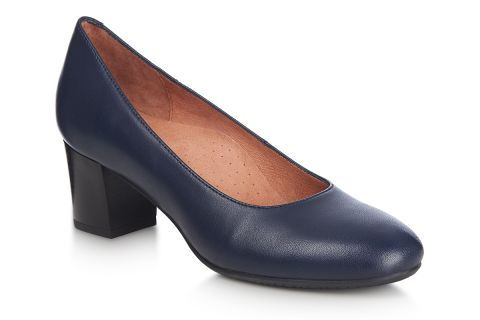 AEROBICS SETA BL6147 NAVY BLUE: LEATHER UPPER, LEATHER LINED, RUBBER SOLE.
