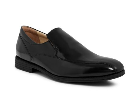 TREDFLEX TF6125A BLACK: POLISHED LEATHER UPPER, LEATHER/SYNTHETIC LINED, RUBBER SOLE